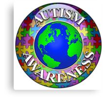 Autism awareness world Canvas Print