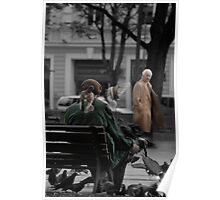 2010 09 04 Vilnius 3, Pigeon man Poster