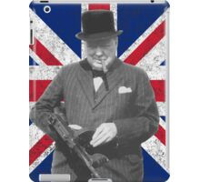 Churchill Posing With A Tommy Gun iPad Case/Skin