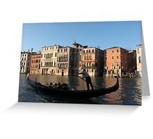 Venice in golden light Greeting Card