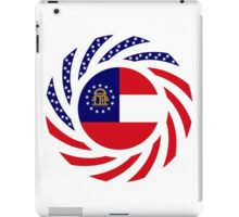 Georgian Murican Patriot Flag Series iPad Case/Skin