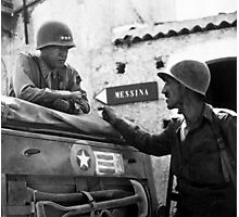 General Patton In Sicily  Photographic Print