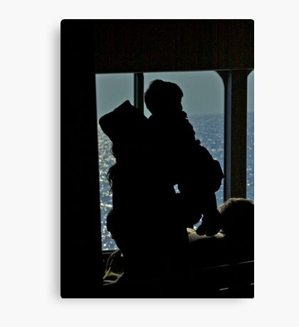 Orthodox priest with his son - ferry to Santorini (Greece).Brown Sugar Story. Views (288) thank you friends ! Canvas Print