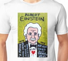 Albert Einstein Pop Folk Art Unisex T-Shirt