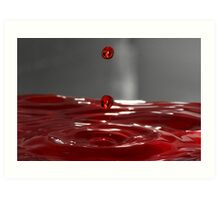 Red Droplet  Art Print