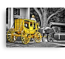 Yellow Carriage Canvas Print
