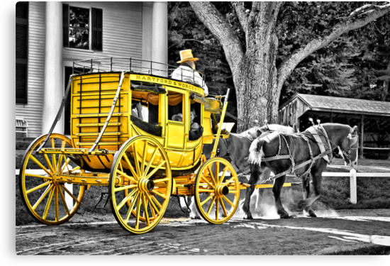 Yellow Carriage by Evelina Kremsdorf