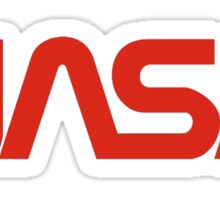 NASA Red Snake Logo Sticker