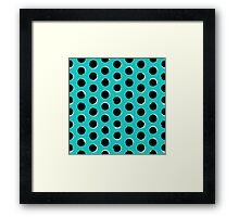 Eclipse polka dot in turquoise Framed Print