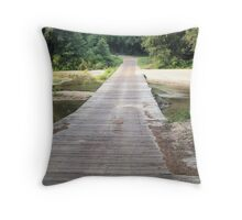 Low Water Bridge - Franklin Co. Mississippi Throw Pillow