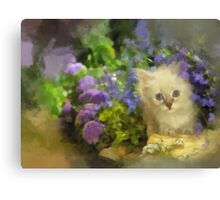 Amongst the flowers Canvas Print