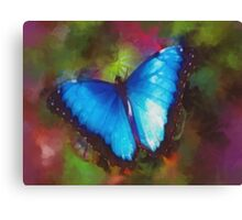 Beautiful Blue Butterfly Canvas Print