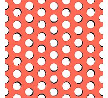 Eclipse polka dot in tropical pink Photographic Print