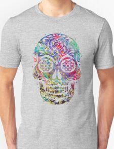 Sugar Skull Watercolor Unisex T-Shirt
