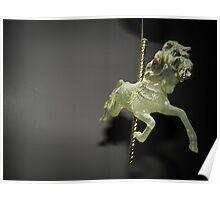 Rocking horse haning ornament Poster