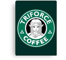 Triforce Coffee (Zelda) Canvas Print