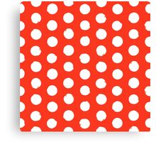 Classic red and white polka dots Canvas Print