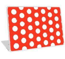 Classic red and white polka dots Laptop Skin