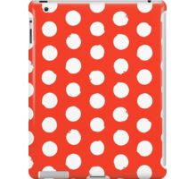 Classic red and white polka dots iPad Case/Skin
