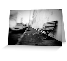 sit here Greeting Card