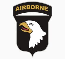 Logo of the SCREAMING EAGLES Airborne Division Baby Tee