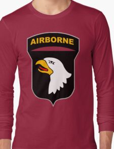 Logo of the SCREAMING EAGLES Airborne Division Long Sleeve T-Shirt