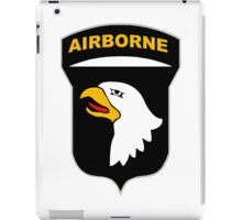 Logo of the SCREAMING EAGLES Airborne Division iPad Case/Skin