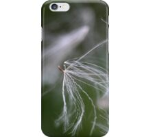 A macro photo of thistle seeds with pappus. iPhone Case/Skin