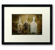 Dirty Bottles Framed Print