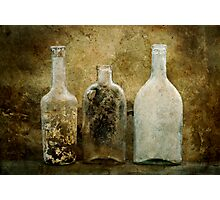 Dirty Bottles Photographic Print