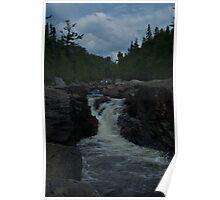 Northern Ontario Waterfall- Pinguisibi Poster
