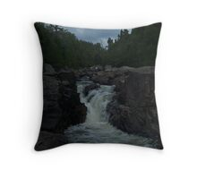Northern Ontario Waterfall- Pinguisibi Throw Pillow