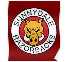 Sunnydale Razorbacks Classic Logo Poster