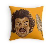 Get That Corn Out Of My Face Throw Pillow
