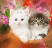 Kittens in a pot by rok-e