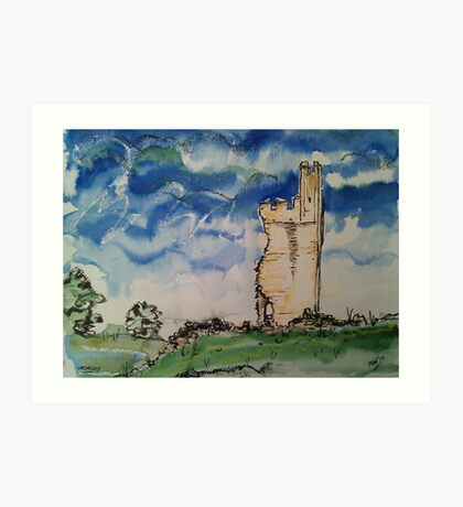 'Helmsley Castle from North Gate' Art Print