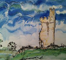 'Helmsley Castle from North Gate' by Martin Williamson (©cobbybrook)