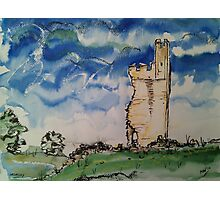 'Helmsley Castle from North Gate' Photographic Print