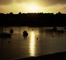 Citrus Dusk - Benodet River Sunset by PandaaPoo