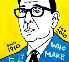 John Wooden Basketball Pop Folk Art by krusefolkart