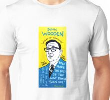 John Wooden Basketball Pop Folk Art Unisex T-Shirt