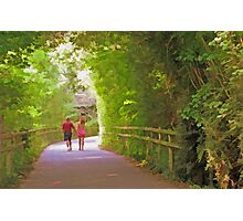 Romantic Stroll Down Lovers Lane Photographic Print