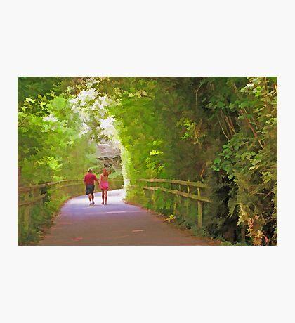 Romantic Stroll Down Lovers Lane Photographic Print
