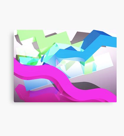 3D Geometric 1980s Inspired Piece Canvas Print