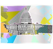 US Capitol Collage Poster