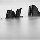 Happisburgh, Old Sea Defence, Norfolk by DaveTurner