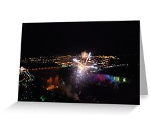 Fire above the Falls Greeting Card
