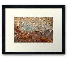 Look to the Hills ~ Metal in Abstract Framed Print