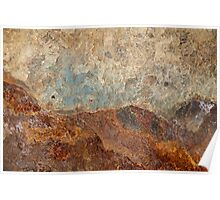 Look to the Hills ~ Metal in Abstract Poster