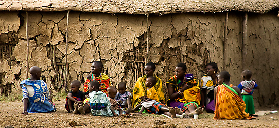 Manyatta, Masai Mara National Reserve, Kenya. 2009 by Damienne Bingham
